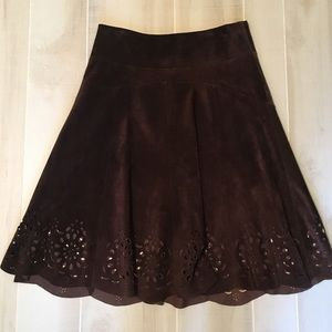 Lilly Pulitzer 100% Suede Skirt Size 4